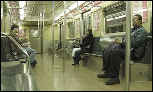 Interior of subway carriage
