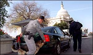 Security checkpoint at the US capitol