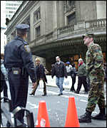 Security outside of New York's Grand Central Station