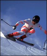 Johnson won Olympic gold in the men's downhill in 1984