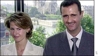 Syrian President Bashar Assad and wife Asma