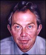 Johnny Yeo's portrait of Tony Blair