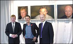 Charles Kennedy, Johnny Yeo and William Hague