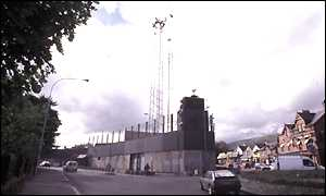 RUC police station on the Falls Road
