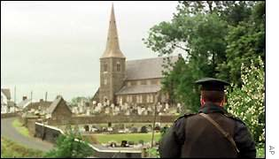 An RUC officer at Drumcree church