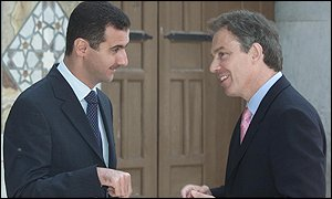 Tony Blair and Bashar Assad in Damascus