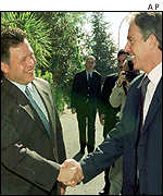 Tony Blair and Jordan's King Abdullah