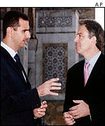 Tony Blair with Syrian President Bashar al-Assad