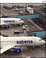 Sabena planes on the tarmac at Brussels