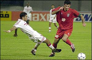 Iran's star striker Ali Daei was on the scoresheet against the UAE