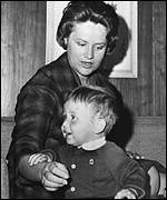 Young Prince Abdullah with mother Toni Gardiner (Associated Press)