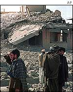 Houses bombed in Kandahar