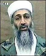 Osama Bin Laden in a recorded video address coutesy of Al-Jazeera television