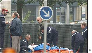 A French railway employee went on the rampage in the city of Tours,