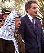 Tony Blair with Yasser Arafat