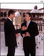 Tony Blair with Syrian President Assad
