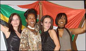 Cheryl Carolus, Beverley Knight and members of the Corrs at Celebrating South Africa, Trafalgar Square, London
