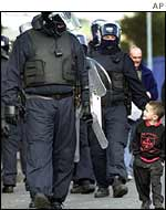 RUC officer in Ardoyne
