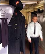 An RUC officer going to work