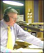 Jimmy Young in the studio
