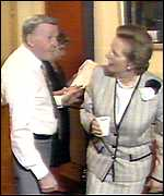 Jimmy Young and Lady Thatcher