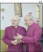 Archbishop Carey and Reverend Clive Handford