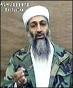 Osama Bin Laden in Al-Jazeera TV broadcast