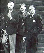 Archibald McIndoe (far right) and Guinea Pigs