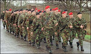 Territorial army soldiers