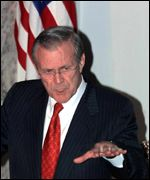 US Defense Secretary Donald Rumsfeld