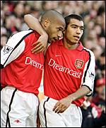 Thierry Henry scored both Arsenal's goals