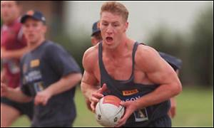 Bard Thorn in training for the Brisbane Broncos