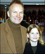Sting and daughter