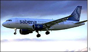 Sabena aircraft coming in for landing