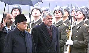 Atal Behari Vajpayee arrives in Moscow