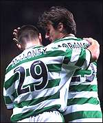 Lubo Moravcik and Shaun Maloney