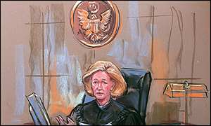 Artist's impression of judge Colleen Kollar-Kotelly