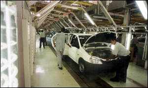 Ford production line, India