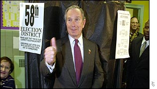New York mayor-elect Michael Bloomberg
