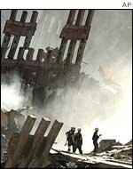 The WTC wreckage