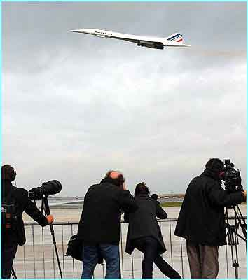 Journalists turned up to watch the historic flight