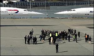 British Airways Concorde and Air France Concorde at JFK airport