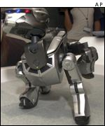 Sony Aibo showing off, AP