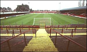 Bournemouth's Dean Court ground before its reconstruction
