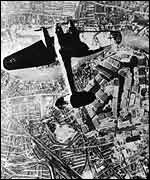 A German bomber over the UK