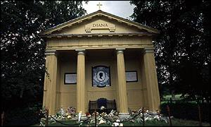 Diana memorial at Althorp Park