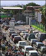 Spanish border queue