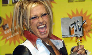 Anastacia cannot hide her glee at winning for best pop act