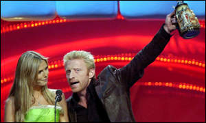 Model Heidi Klum and former tennis star Boris Becker flew the flag for Germany