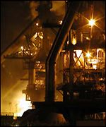 Fire at Port Talbot steelworks